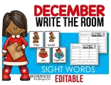 Editable Write The Room for Sight Words - December