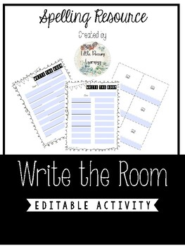 Editable Write the Room