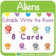Editable Write the Room: Aliens