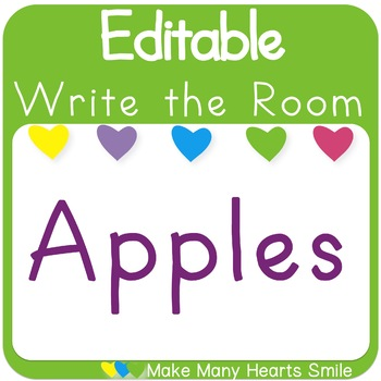 Editable Write the Room: Apples Theme