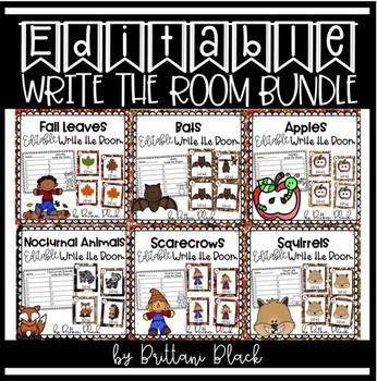 Editable Write the Room Bundle