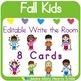 Editable Write the Room: Fall Kids