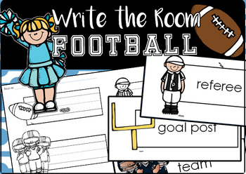 Editable Write the Room: Football