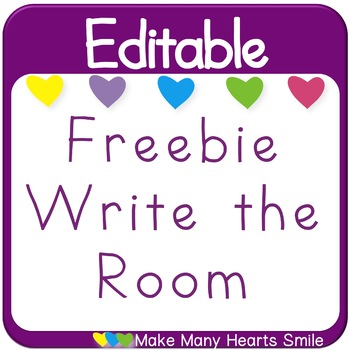 Editable Write the Room Freebie