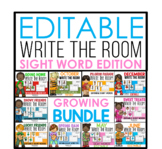 Editable Write the Room Growing Bundle - Sight Word Edition