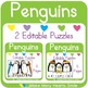 Editable Easy Centers: Penguins