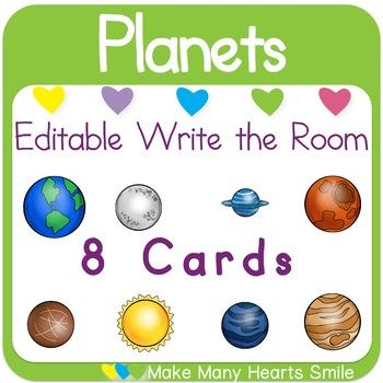 Editable Write the Room: Planets