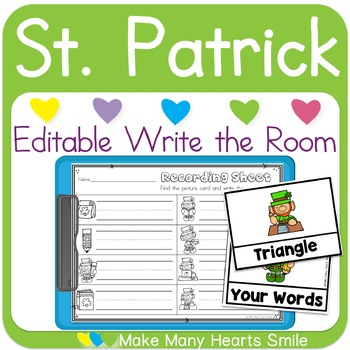 Editable Write the Room: St. Patrick's Day