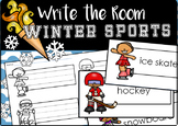 2018 Winter Sports Write the Room (Editable)