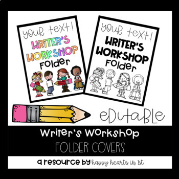 Editable Writer's Workshop Folder Cover