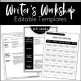 Editable Writer's Workshop Lesson Plans | Editable Year at