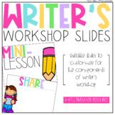 Editable Writer's Workshop Slides   Distance Learning