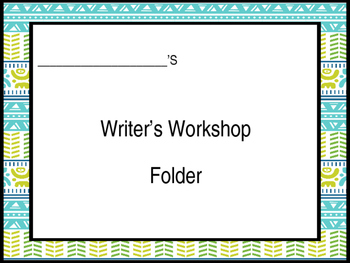 Editable***  Writers Workshop Folder Inserts