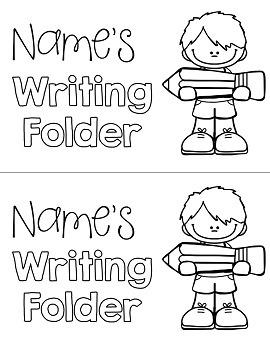 Editable Writing Folder Covers
