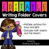 Editable Writing Folder Covers