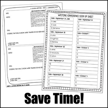 Editable Writing Forms {Back to School - Unit 1 - 6th Grade}