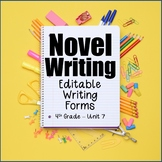 Editable Forms {Novel Writing - Unit 7 - 4th Grade}