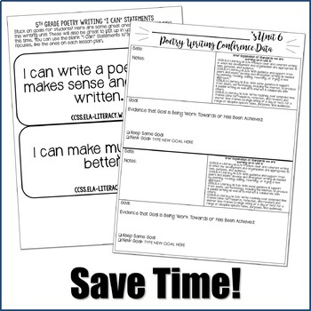 Editable Writing Forms {Poetry Writing - Unit 6 - 5th Grade}