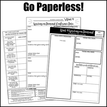 Editable Writing Forms {Writing on Demand - Unit 4 - 4th, 5th, 6th Grade}