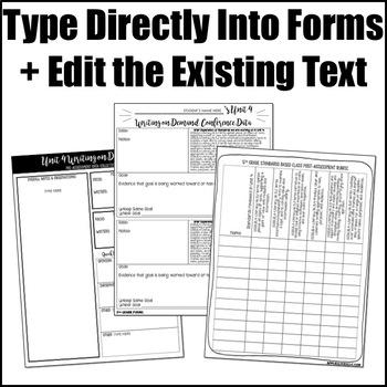 Editable Writing Forms {Writing on Demand - Unit 4 - 5th Grade}
