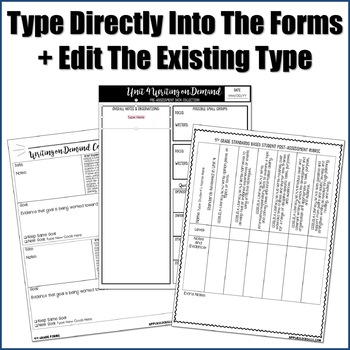 Editable Writing Forms {Writing on Demand - Unit 4 - 4th Grade}
