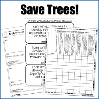Editable Writing Forms {Writing on Demand - Unit 4 - 6th Grade}