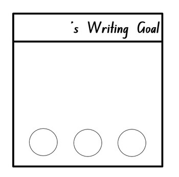 Editable Writing Goal Desk Mat [FREE!]