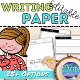 Editable Writing Paper Pack