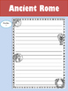 Editable Writing Paper : Ancient Rome: Standard Lines