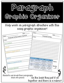 Editable Writing Paragraph Graphic Organizer