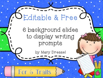 Editable Writing Prompt Backgrounds - FREE