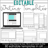 Editable Writing Templates {Digital Resources for Distance