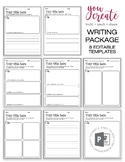 Editable Writing Templates | PowerPoint | Create your own lesson plan