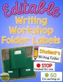 Editable Writing Workshop Folder Labels