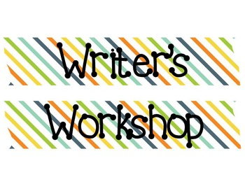 *Editable* Writing Workshop Starter Kit with Modes of Writing Posters (BGOY)