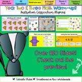 Editable Year 2 and 3 Australian Curriculum Aligned Math Warm-ups