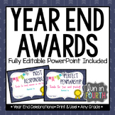 Editable Year End Award Certificates