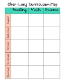 Editable Year-Long Curriculum Map *FREEBIE*