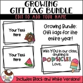 Editable Year Long Gift Tag Growing Bundle