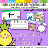 Editable Year One English Warm-ups - Australian Curriculum Aligned