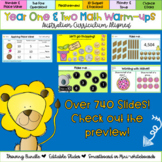 Editable Year One and Year Two Math Warm-ups Australian Curriculum Aligned