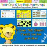 Editable Year 1 & 2 Australian Curriculum Math Warm-ups Di