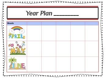 Editable Year Plan