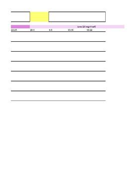 Editable Year Plan Template
