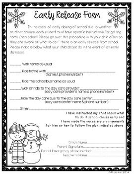 Editable Year Round Forms - Add on Pack