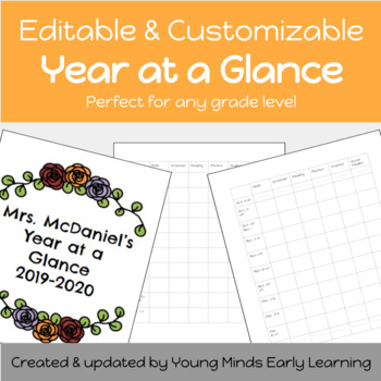 Editable Year at a Glance (Scope & Sequence)