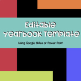 Editable Yearbook Template (Bright Colour Theme)