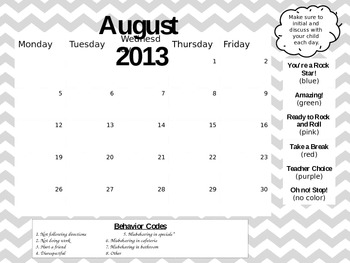 **Editable Yearly Behavior Clip Chart Pack