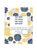 Editable Yearly Grade-book Template