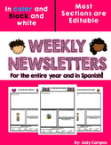 Editable Yearly Newsletters in Spanish